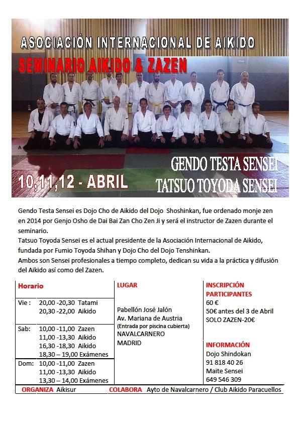 Seminario de Aikido y Taller de Meditación Zen Abril 2015