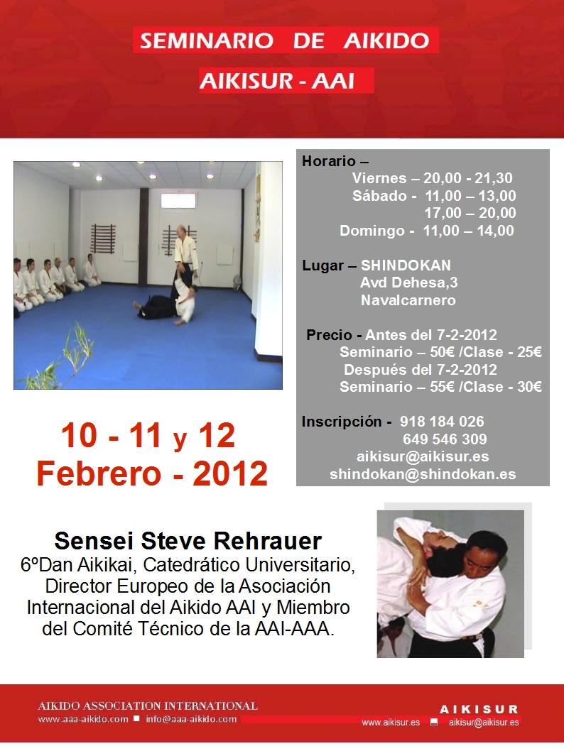 Próximo seminario por sensei Steve Rehrauer
