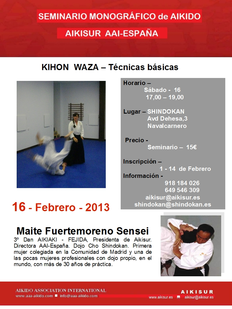 KIHON WAZA - Técnicas Básicas